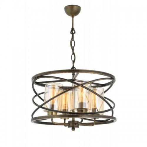 Żyrandol lampa wisząca vintage patyna avonni  av-1590-4e kuchnia salon sypialnia jadalnia