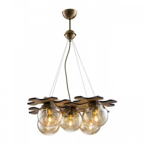 Lampa wisząca vintage  avonni av-1588-4+1ey patyna  kuchnia restauracja, kawiarnia pub