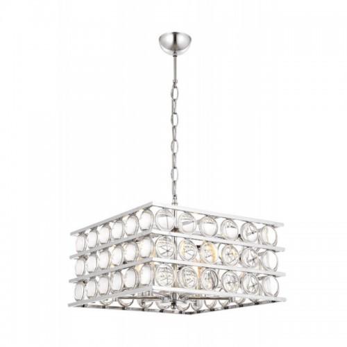 Kryształowy srebrny  żyrandol avonni av-1701-k45x45  hotel sala bankietowa restauracja salon