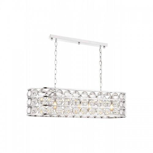 Kryształowy srebrny  żyrandol avonni av-1701-k90x35  hotel sala bankietowa restauracja salon