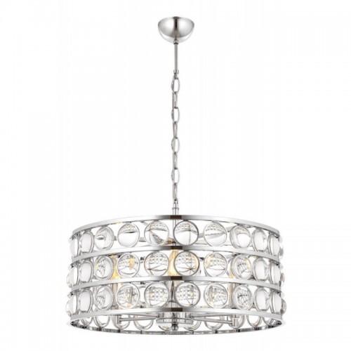 Kryształowy srebrny  żyrandol avonni av-1701-k53  hotel sala bankietowa restauracja salon