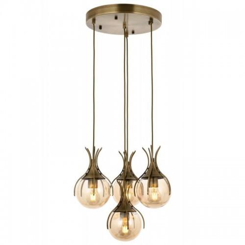 Ponadczasowa patynowa lampa wisząca  avonni  AV-1766-4ET salon sypialnia jadalnia