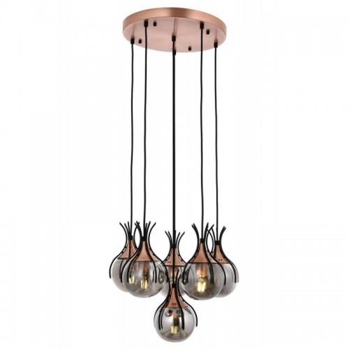 Ponadczasowa lampa wisząca na kole  avonni  AV-1766-6T-BSY salon sypialnia jadalnia