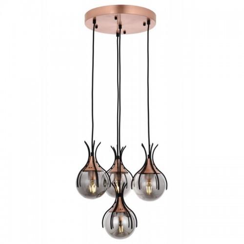 Ponadczasowa lampa wisząca  avonni  AV-1766-4T-BSY salon sypialnia jadalnia