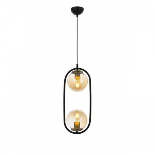 Nowoczesna czarna industrialna lampa żyrandol loft  avonni av-4275-2bsy  salon sypialnia jadalnia