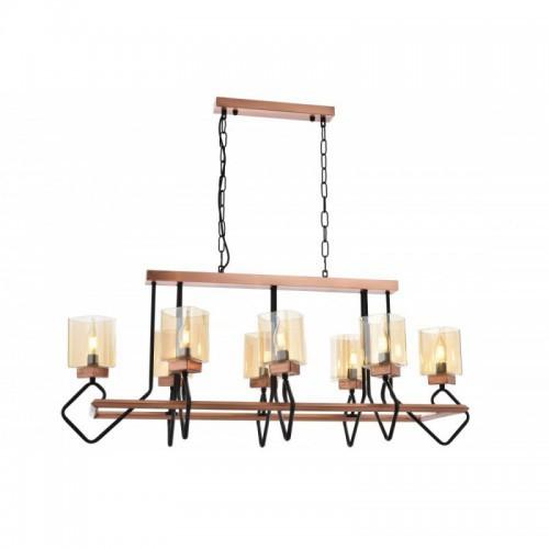 Niesamowita lampa wisząca AV-1740-8YM-BSY  avonni salon sypialnia jadalnia