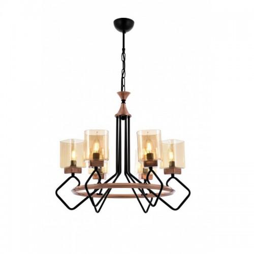 Niesamowita lampa wisząca AV-1740-6BSY  avonni salon sypialnia jadalnia