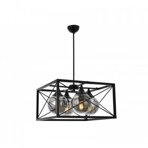 Lampa wisząca vintage avonni av-1732-4bsy  jadalnia  salon kuchnia sypialnia,