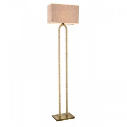 Lampa podłogowa z abażurem avonni patyna  LM-1582-1E  salon  sypialnia  jadalnia