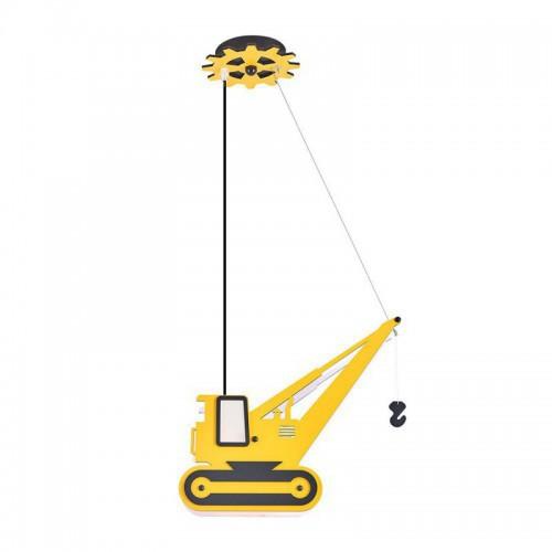 Dziecięca lampa dźwig ozcan 4801-4 żółty
