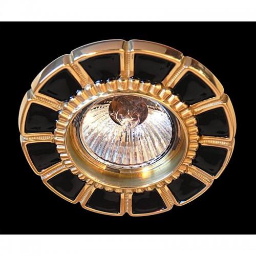 Hiszpańskie oczko podtynkowe oprawa halogenowa gumarcris 383neg lampa podtynkowa mosiądz
