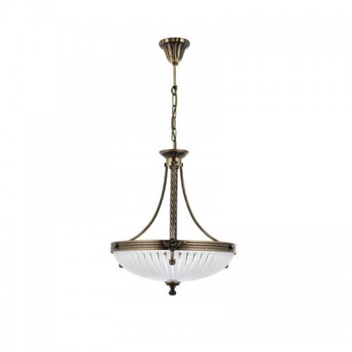 Mosiężna lampa wisząca 40cm 2067-ot sevinc żyrandol mosiądz 3x60w