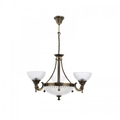 Mosiężny żyrandol 2067-3+3 sevinc lampa mosiądz 3x60w + 3x40w