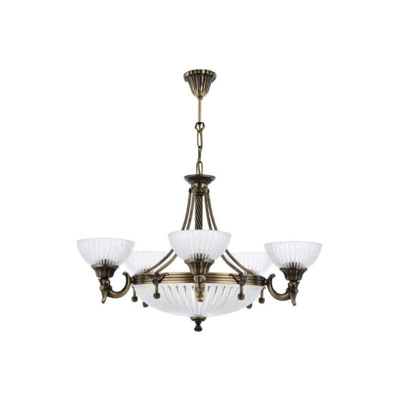 Mosiężny żyrandol 2067-5+3 sevinc lampa mosiądz 5x60w + 3x40w