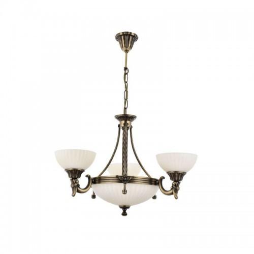Mosiężny żyrandol 2065-3+3 sevinc lampa mosiądz 3x60w + 3x40w