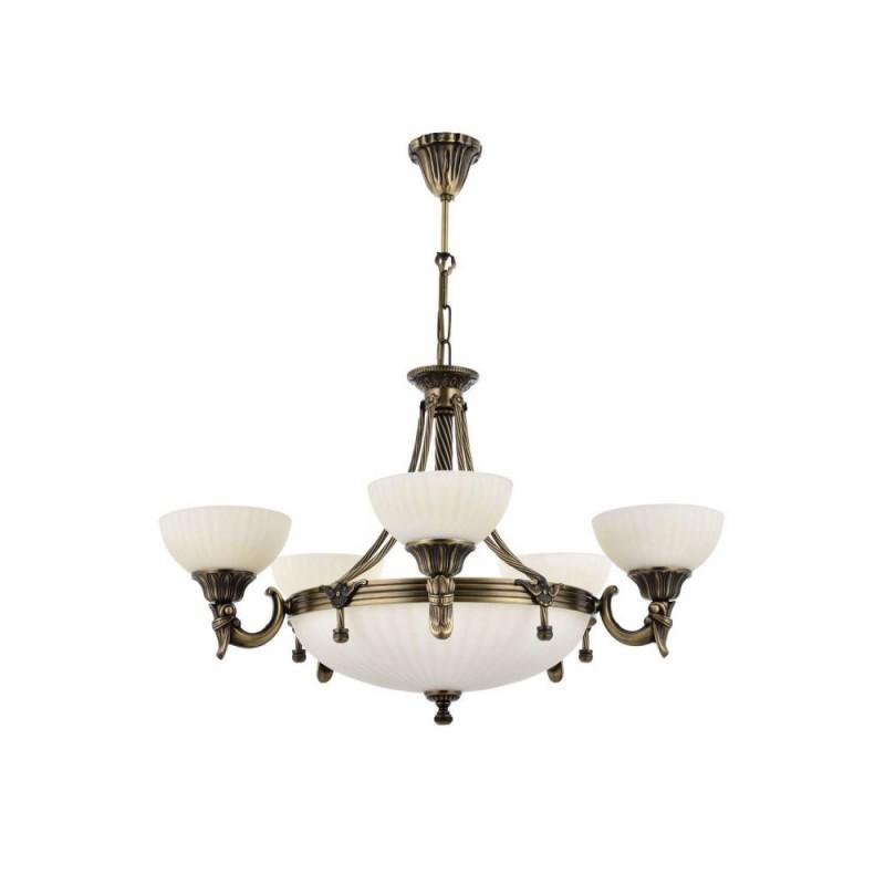 Mosiężny żyrandol 2065-5+3 sevinc lampa mosiądz 5x60w + 3x40w