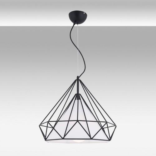 Czarna lampa wisząca 45cm ozcan 6307-2 czarny żyrandol 1x40w