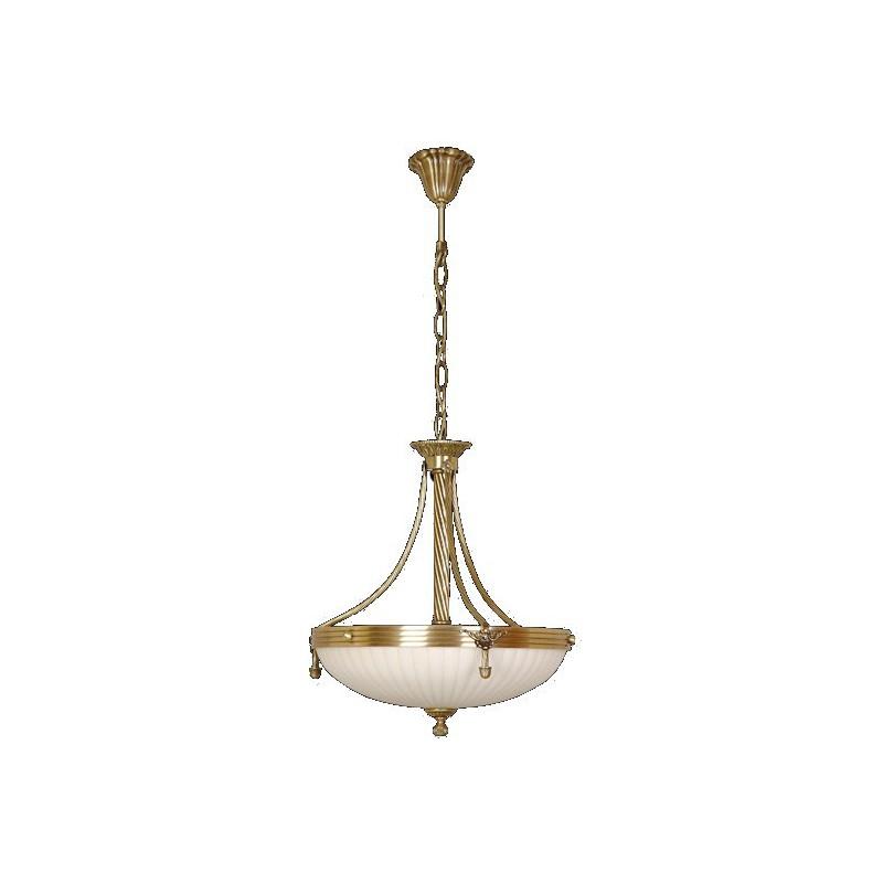 Mosiężny żyrandol 2065 kt sevinc lampa mosiądz 3x40w