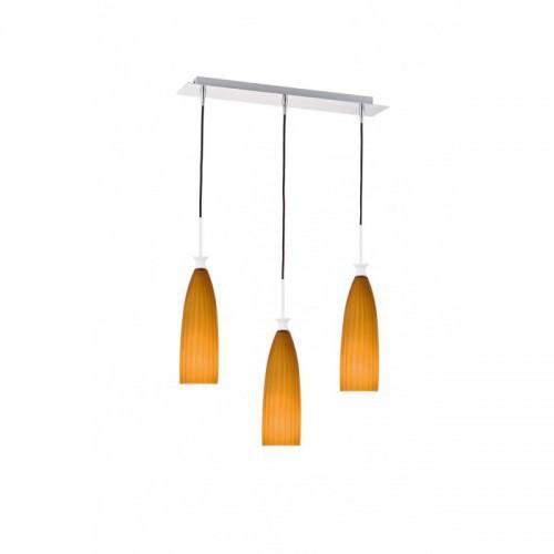 OUTLET 77 Pomańczowa lampa wisząca ozcan nad stół 5258-3as salon