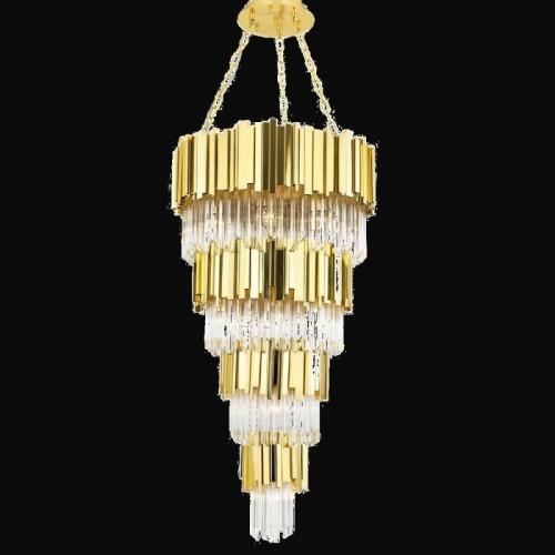 Kryształowa lampa żyrandol  avonni hotel sala bankietowa restauracja  av-4179-19s  lampa