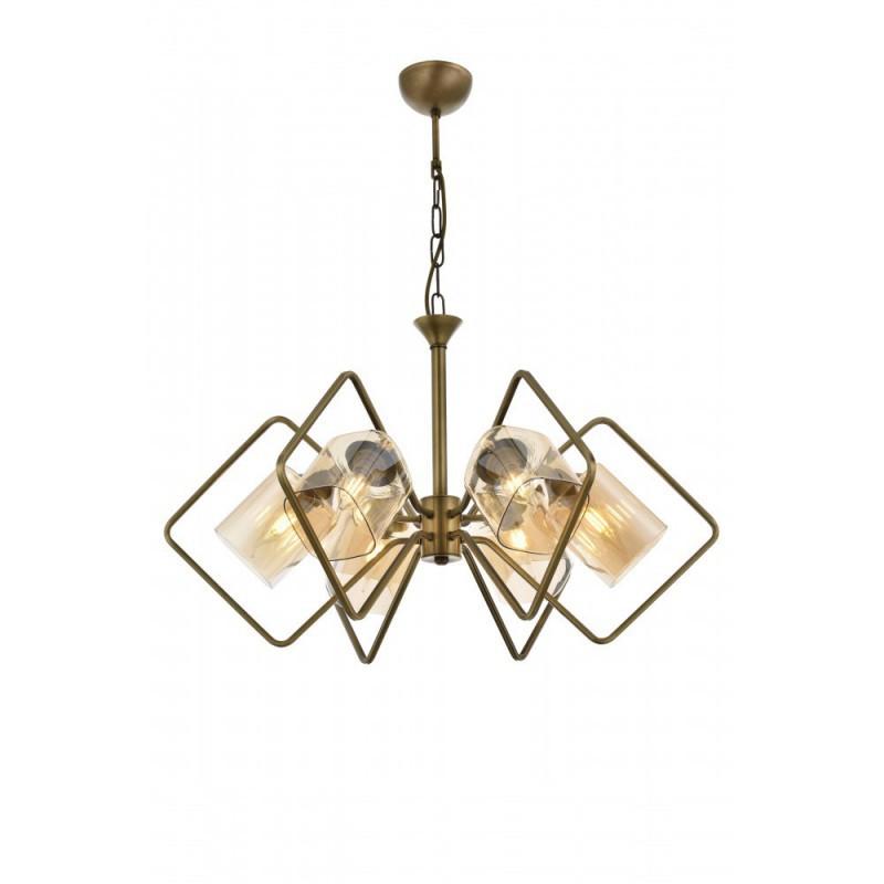 Szampańskie szklane klosze ledowa lampa kinkiet led nad lustro ozcan 6140-1 szkło
